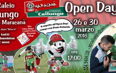Open Day 26 e 30 marzo 18 sp Cailungo Campo Piccolo Maracana
