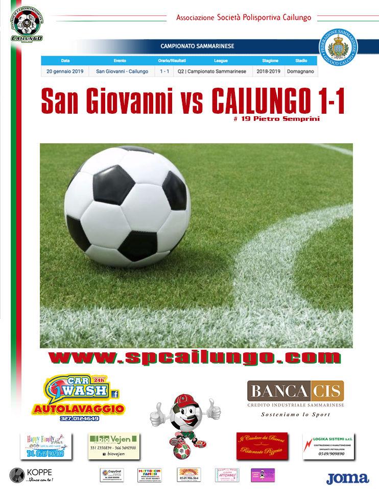 San Giovanni vs Cailungo 1-1