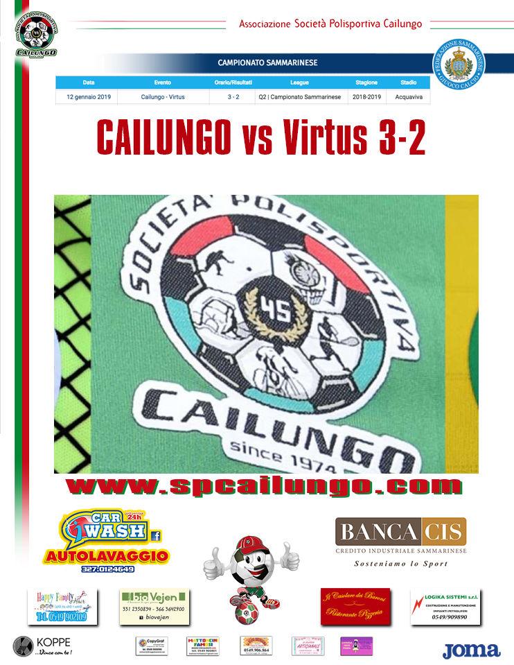 Cailungo vs Virtus 3-2