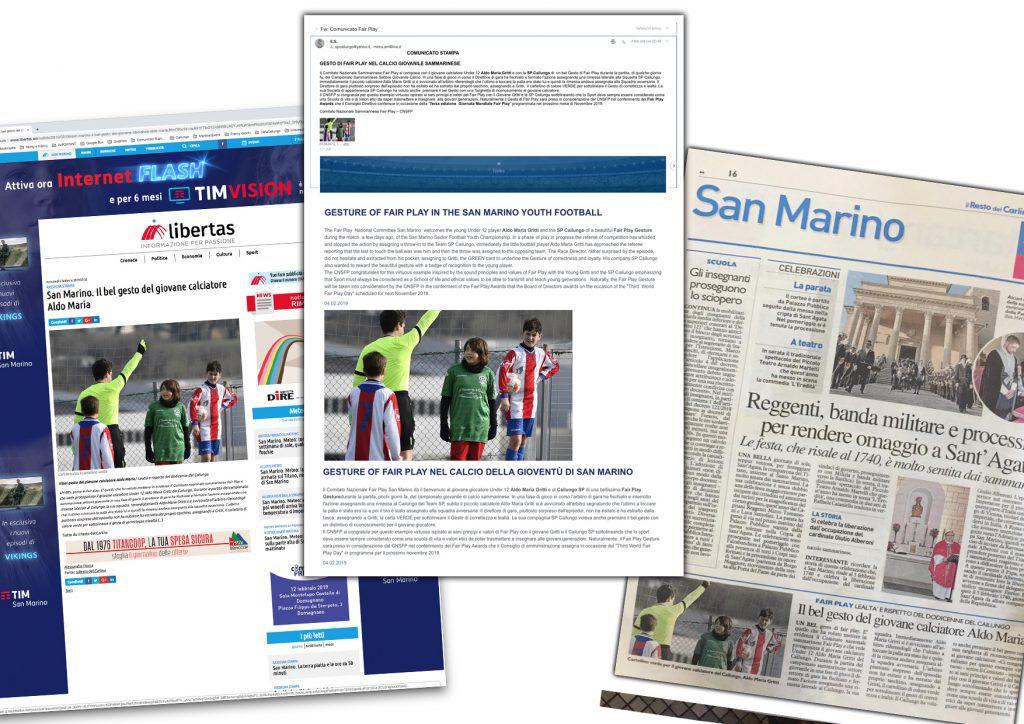 Rassegna Stampa Aldo Maria Gritti Fair Play