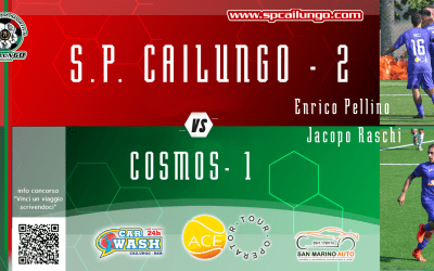 Cailungo vs Cosmos 2-1 vinta 3 su 3