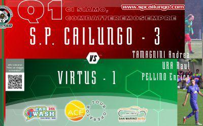 Cailungo vs Virtus 3-1 Q1 ci siamo