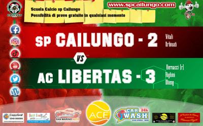 Cailungo vs Libertas 2 - 3 risultato finale