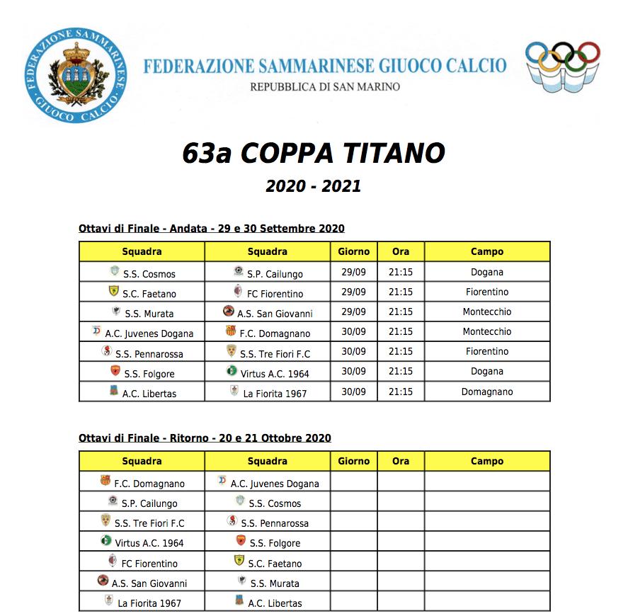 Coppa Titano Calendario 2020-21