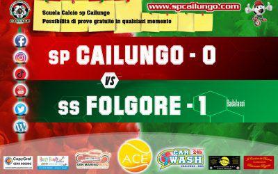 Cailungo vs Folgore 0-1 Partita persa