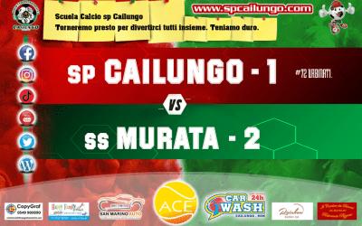 Sconfitta per 2-1, la vince il Murata