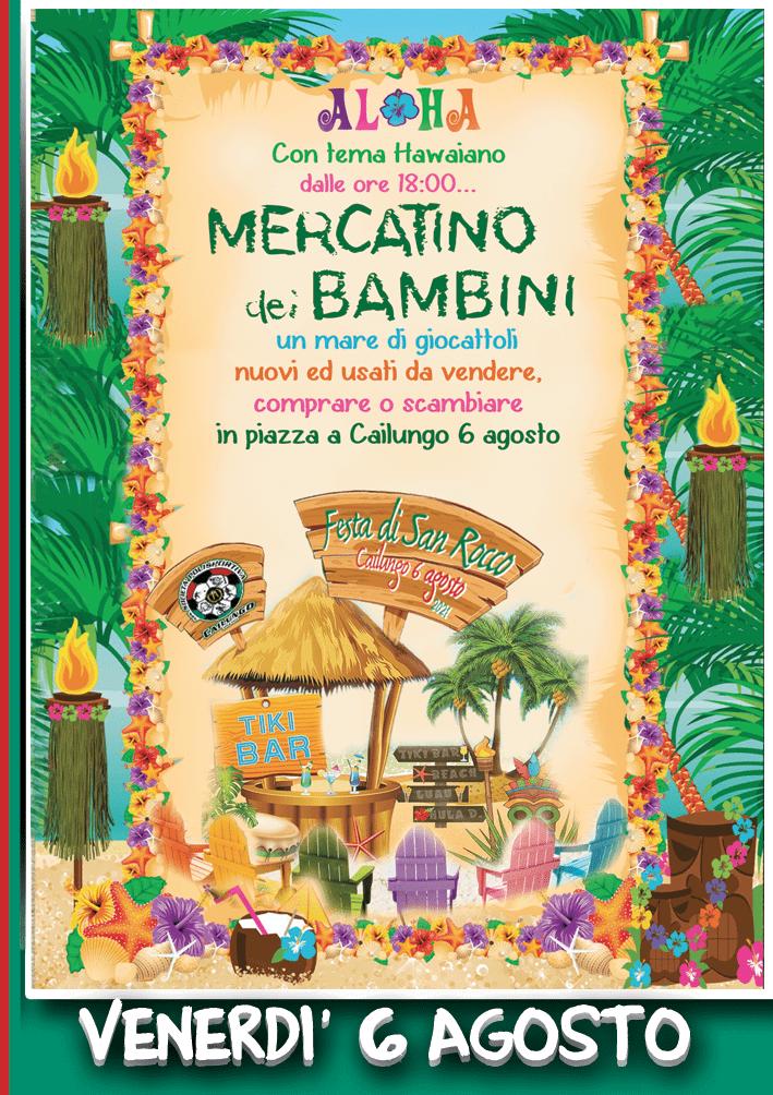 Festa di San Rocco Cailung 5-6-7-8 agosto 2021 Mercatino dei Bambini