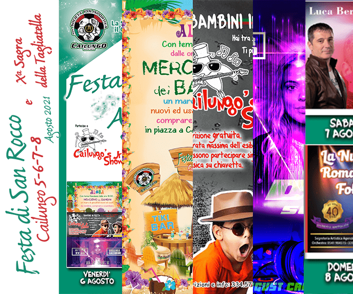 Festa di San Rocco Cailung 5-6-7-8 agosto 2021 Promo