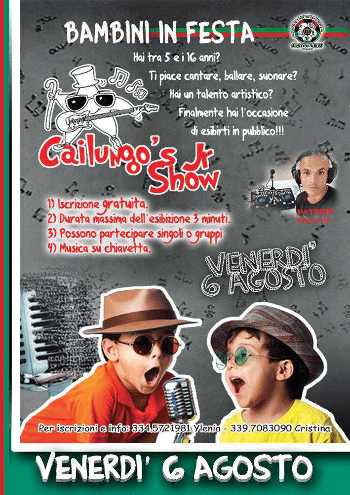 Festa di San Rocco Cailung 5-6-7-8 agosto 2021 Talent Cailungo's Jr Show