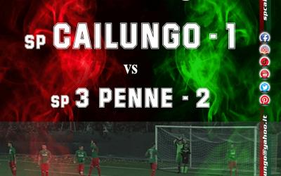 Finisce 2-1 per il Tre Penne sul Cailungo.